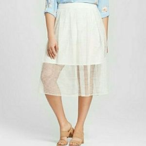 NWT who wear what midi skirt